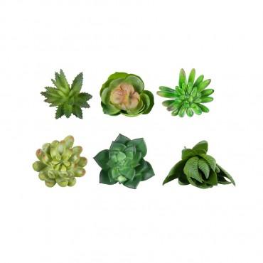 Set 6 Faux Small Succulent Stems Assort Plant Tree Artificial Fake Floral 5x12cm