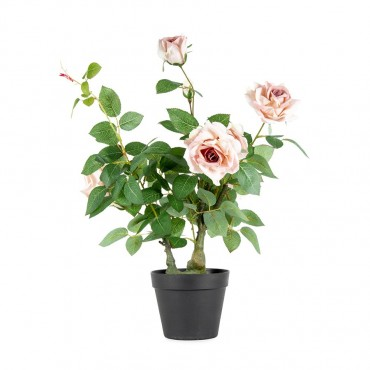 Potted Faux Lagerfield Rose Plant Tree Artificial Fake Floral 50x65cm