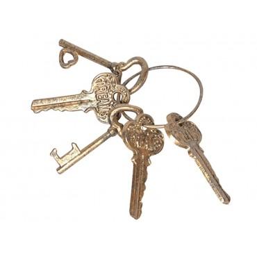 Antique Gold Love Dream Key Bunch Ornament Figurine Metal Gold 12x18cm