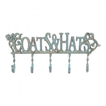 Aristocrat 5 Hook Coat Hat Wall Hanger Wall Mount Rack Holder 46.99x20cm