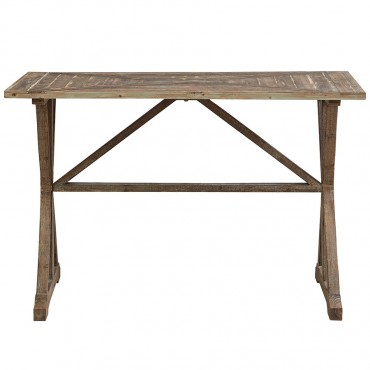 French Country Console Hallway Hall Unit Fir Wood Natural 117x77cm