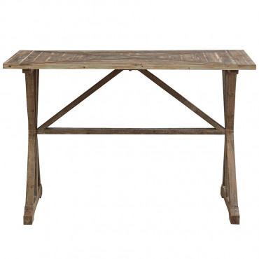 French Country Console Table Metal Hallway Hall Unit 117x77cm