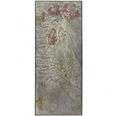 Rooster Profile Wall Hanging Screen Sign Metal  33x90cm