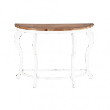 Regency Half Round Console Table Hallway Hall Unit Timber 102x76cm