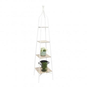 Fiore French Tower Shelf Metal Fir Shelves Rack Stand Bookshelf 37x180cm