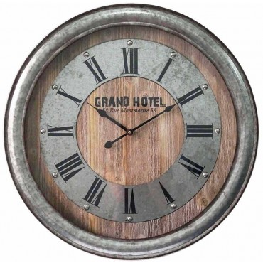 Large Industrial Wall Clock Hanging Art Home Decor Metal Zinc 60x60cm