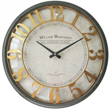 WILLIAM MERCHANT CLOCK W GLASS