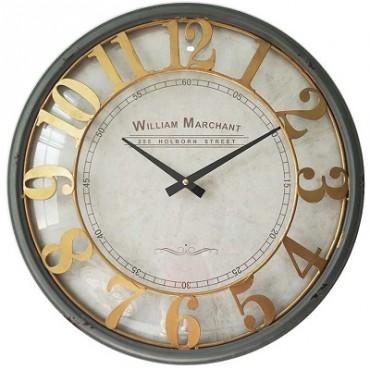 WILLIAM MERCHANT CLOCK W GLASS