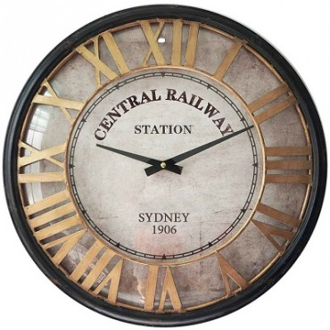 CENTRAL RAILWAY STATION CLOCK W GLASS