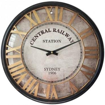 CENTRAL RAILWAY STATION CLOCK W GLASS