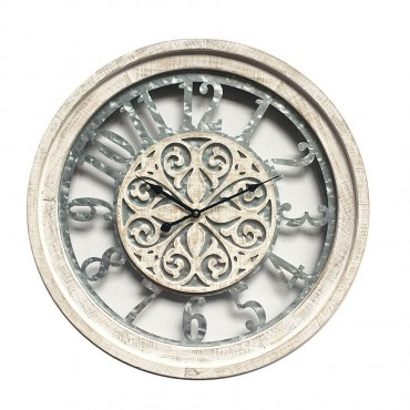 Industrio Round Wall Clock Hanging Art Home Decor Metal Natural 60x60cm