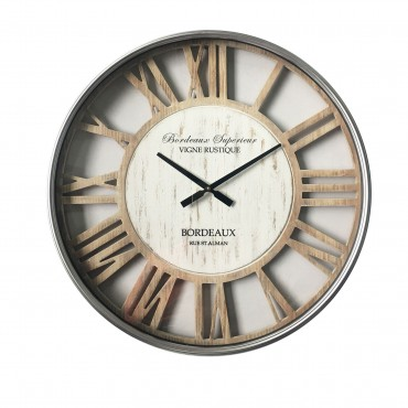 Hampton Round Wall Clock With Glass Front Hanging Art Dedor White 70cm