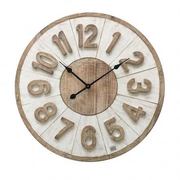 Large Hamptons Giro Round Wall Clock Hanging Art Decor 70x70cm