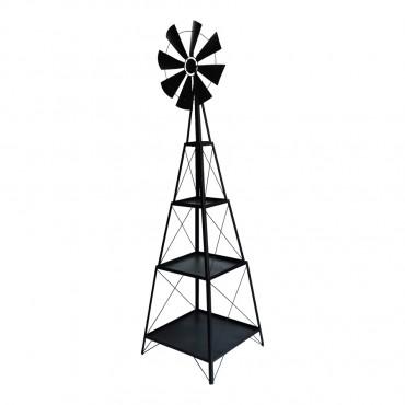 Windmill Display W/ 3 Shelves Zinc Shelves Rack Stand Bookshelf 48x168cm