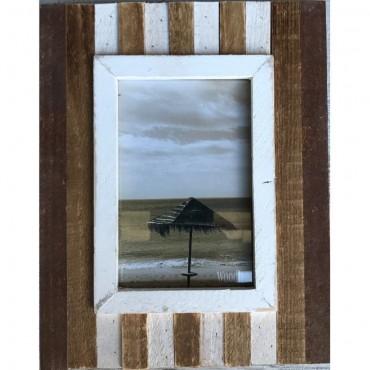 Single Stripe Photo Frame Picture Wall Art Hanger Decor Wood Natural 22X27Cm