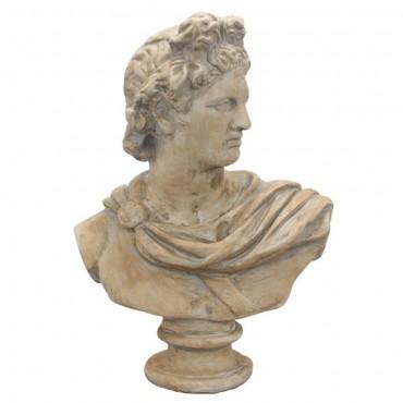 Antony Bust Ornament Figurine Sculpture Polyresin Beige 61x79cm