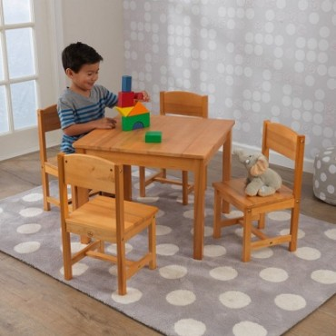 KIDKRAFT FARMHOUSE TABLE N 4 CHAIRS NATURAL
