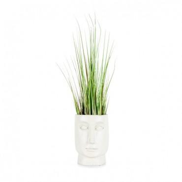 Tall Beau-Face Planter Garden Pot Flower Plant Holder Ivory Cream 29x30cm