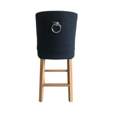 Cordelia Barstool Kitchen Bar Stool Chair Seat Birchwood French Navy 49x105cm