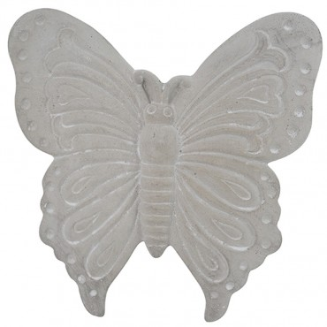 Longtail Butterfly Wall Hanging Hanging Screen Sign Cement Grey 33x3cm