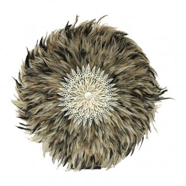 Large Shell Circlew R/ Stand Ornament Figurine Feather Natural 60x60cm