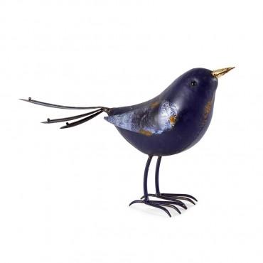 Bluebird Looking Ahead Garden Sculpture Figurine Ornament Metal 32x19cm