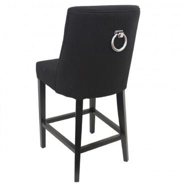 Ophelia Barstool Kitchen Bar Stool Chair Seat Frame Black 49x105cm