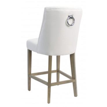 Ophelia Barstool Kitchen Bar Stool Chair Seat Frame White Natural 49x105cm