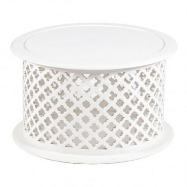 Hamptons Quatrefoil Coffee Table Lamp Nightstand 70x40cm
