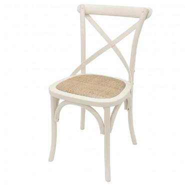 Crossback Dining Chair Seat Sofa Lounge Tub Birch Frame Rattan seat 40x90cm