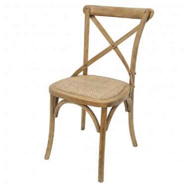 Crossback Dining Chair Seat Sofa Lounge Tub Birch frame Rattan 40x90cm