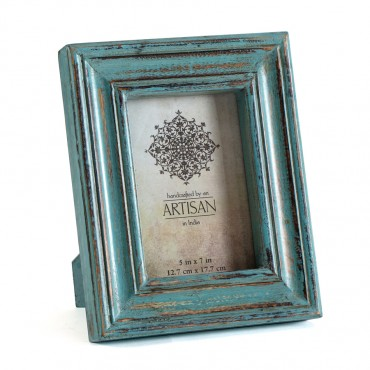 Deep Hand Crafted 5X7In Photo Frame Wood Glass Picture Art 21x26cm