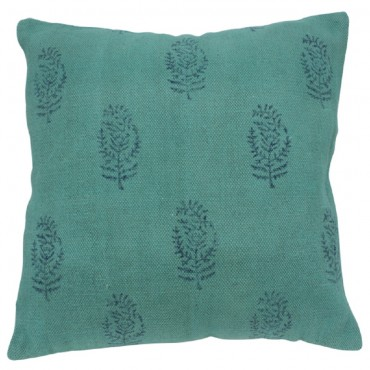 Field Study Cushion Decorative Pillow Cotton Turquoise Blue 50x3cm