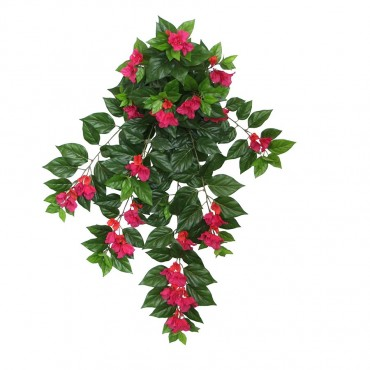 Large Faux Hanging Bougainvillea Plant Tree Artificial Fake Floral Green 75x95cm