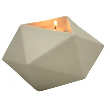 Ios Tealight Candle Holder Lantern Tealight Lamp Ceramic White 14x8cm