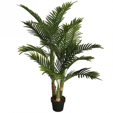 POTTED FAUX PALM TREE