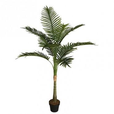 POTTED FAUX SOLITAIRE PALM TREE