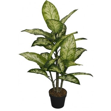 POTTED FAUX DUMBCANE 93CM