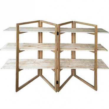 LARGE 3 TIER GEOMETRIC OPEN SHELF