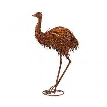Large Mum Emu Metal Garden Statue Sculpture Figurine Ornament 59x88cm
