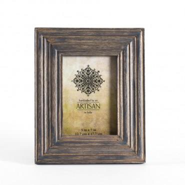 Artisan Photo Frame Picture Art Decor Timber Natural Wash 19x24cm
