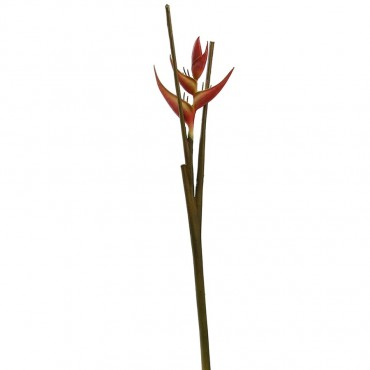 Large Crab Claw Stem Plant Tree Artificial Fake Floral Paper Burgundy 108x6cm