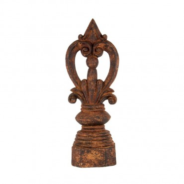 Large Finial Decor Ornament Figurine Metal Brown 30x80cm