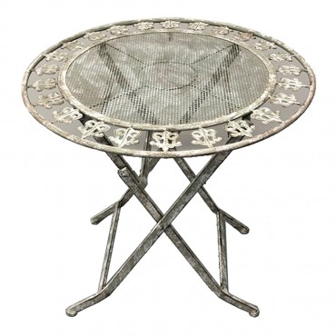 Riviera Round Table Metal Outdoor Garden Patio Setting 70x72cm