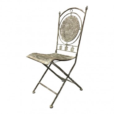 Riviera Chair Metal Outdoor Garden Seat Stool Occasional 43x95cm