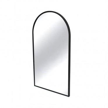 Slimline Arch Wall Mirror Hanging Art Metal Mirror Black 50x90cm