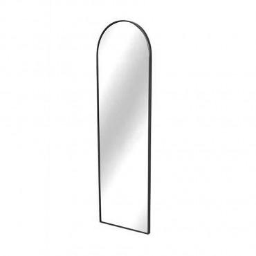Slimline Arch Wall Mirror Hanging Art Metal Mirror Black 28.5x99cm