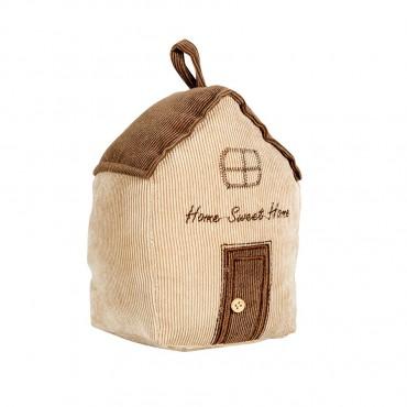House Door Stopper Stop Home Decor Fabric Caramel 12x17cm