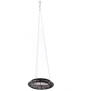 Contemporary Candle Hanger Lantern Tealight Lamp Metal Black 38x7cm