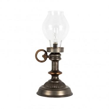 Vintage Style Table Lantern W/ BulbÿBattery Operated Tealight Lamp 15x34cm